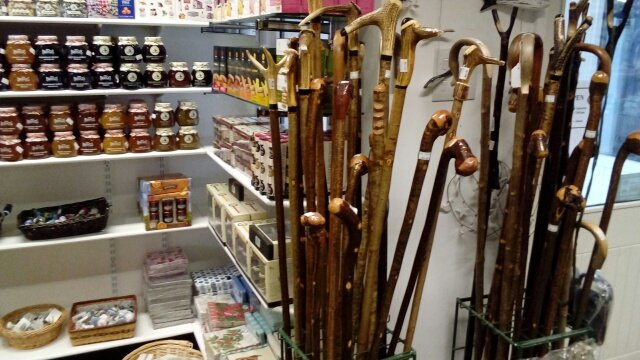 Locally sourced walking sticks